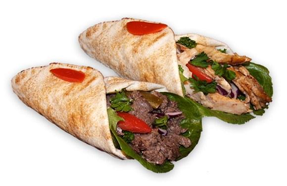 Beef Shawarma Pita Chicken or Lamb Shawarma Pita